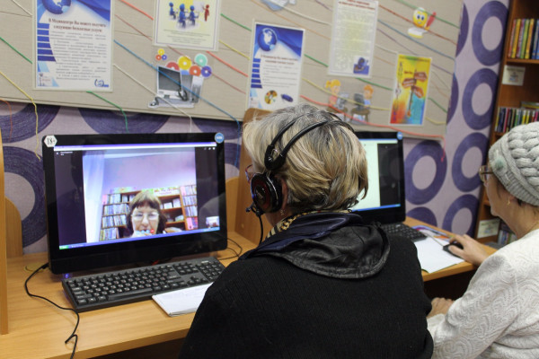 Пенсионеры выходят в «Skype»