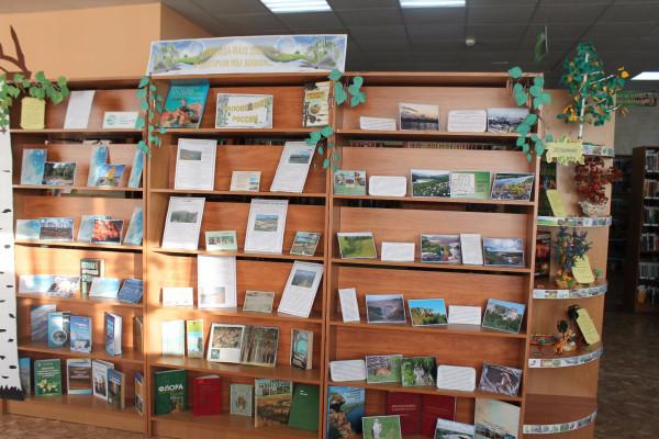 К Году экологии для читателей  представлены книжные выставки